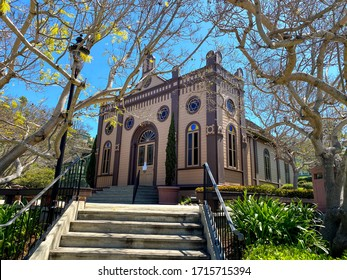 San Diego CA 4-26-2020 The first synagogue in San Diego the Temple Beth Israel synagogue at  Heritage Park in Old Town San Diego