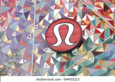 San Diego, CA - December 28, 2015: Exterior view of a Lululemon store in the mall Westfield University Town Center.