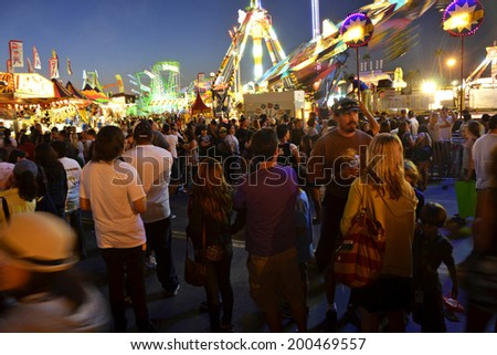 SAN DIEGO, CA -  JULY 1:  Scene from the San Diego County Fair on July 1, 2011 in San Diego, California. In recent years, attendance figures have risen above a million annually.