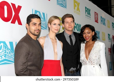 """SAN DIEGO, CA - JULY 10: The cast of """"Minority Report"""" arrives at the 20th Century Fox/FX Comic Con party at the Andez hotel on July 10, 2015 in San Diego, CA."""