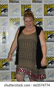 San Diego, CA - July 11, 2015: Julie Plec of The CW's Vampire Diaries arrives at Comic Con 2015 in San Diego, CA.