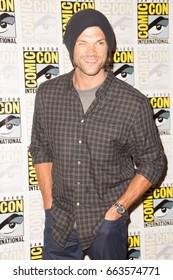 San Diego, CA - July 12, 2015: Jared Padalecki of The CW's Supernatural arrives at Comic Con 2015 in San Diego, CA.