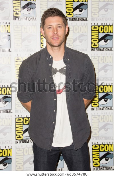 San Diego, CA - July 12, 2015: Jensen Ackles of The CW's Supernatural arrives at Comic Con 2015 in San Diego, CA.