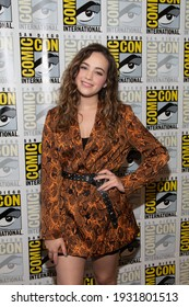 San Diego, CA - July 18, 2019: Mary Mouser of Cobra Kai arrives at Comic Con 2019 in San Diego, CA.