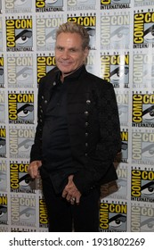 San Diego, CA - July 18, 2019:  Martin Kove of Cobra Kai arrives at Comic Con 2019 in San Diego, CA.