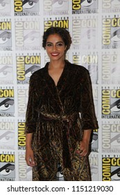 San Diego, CA - July 19, 2018: Mandip Gill of BBC America's Doctor Who arrives at Comic Con 2018 in San Diego, CA.