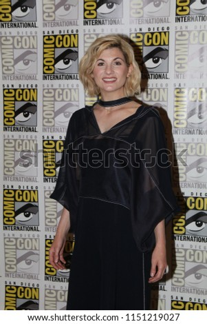 San Diego, CA - July 19, 2018: Jodie Whittaker of BBC America's Doctor Who arrives at Comic Con 2018 in San Diego, CA.