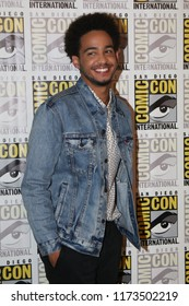 San Diego, CA - July 20, 2018:  Jorge Lendeborg Jr. from Paramount Pictures' Bumblebee film arrives at Comic Con 2018 in San Diego, CA.