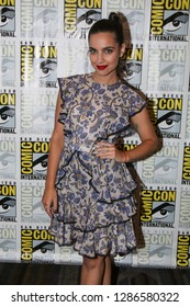 San Diego, CA - July 20, 2018: María Gabriela de Farí from SYFY's Deadly Class arrives at Comic Con 2018 in San Diego, CA.