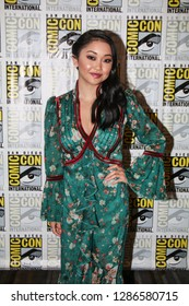 San Diego, CA - July 20, 2018: Lana Condor from SYFY's Deadly Class arrives at Comic Con 2018 in San Diego, CA.