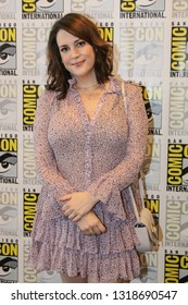 San Diego, CA - July 20, 2018: Melanie Lynskey from Hulu's Castle Rock arrives at Comic Con 2018 in San Diego, CA.