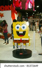 SAN DIEGO, CA - JULY 20: A giant Lego of SpongeBob Squarepants is on display during preview night at the 2011 Annual Comic Con International convention on July 20, 2011 in San Diego, CA