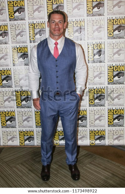 San Diego, CA - July 20, 2018: John Cena from Paramount Pictures' Bumblebee film arrives at Comic Con 2018 in San Diego, CA.