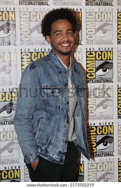 San Diego, CA - July 20, 2018:  Jorge Lendeborg Jr. from Paramount Pictures' Bumblebee film arrives at Comic-Con 2018 in San Diego, CA.