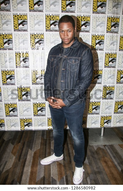 San Diego, CA - July 20, 2018: Luke Tennie from SYFY's Deadly Class arrives at Comic Con 2018 in San Diego, CA.