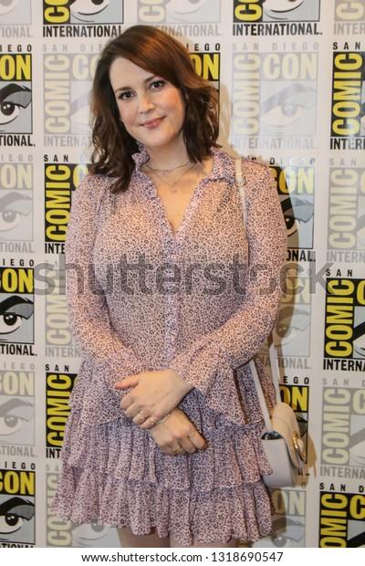 San Diego, CA - July 20, 2018: Melanie Lynskey from Hulu's Castle Rock arrives at Comic Con 2018 in San Diego, CA.