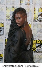 San Diego, CA - July 21, 2018: Jodie Turner-Smith of SyFy's Nightflyers arrives at Comic Con 2018 in San Diego, CA.