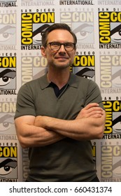 San Diego, CA - July 21, 2016: Christian Slater of USA's Mr Robot arrives at Comic Con 2016 in San Diego, CA.