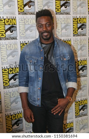 San Diego, CA - July 21, 2018: David Ajala of SyFy's Nightflyers arrives at Comic Con 2018 in San Diego, CA.