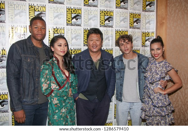 San Diego, CA - July 21, 2018: The cast of SYFY's Deadly Class arrive at Comic Con 2018 in San Diego, CA.