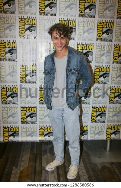San Diego, CA - July 21, 2018: Benjamin Wadsworth from SYFY's Deadly Class arrives at Comic Con 2018 in San Diego, CA.