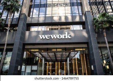 San Diego, CA - July 22, 2019: WeWork office building entrance in Downtown, San Diego
