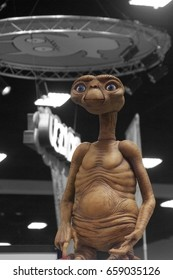 San Diego, CA - July 22, 2013: E.T. the Extra-Terrestrial statue at Comic-Con 2013 from E.T. the Extra-terrestrial film.