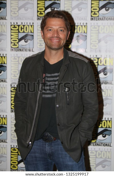 San Diego, CA - July 22, 2018: Misha Collins from The CW's Supernatural arrives at Comic Con 2018 in San Diego, CA.