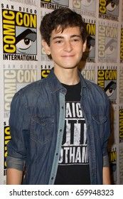 San Diego, CA - July 23, 2016: David Mazouz of Warner Bros. Gotham arrives at Comic Con 2016 in San Diego, CA.