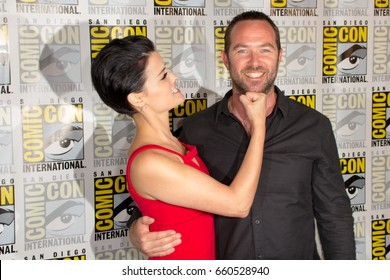San Diego, CA - July 23, 2016: Jaimie Alexander and Sullivan Stapleton of NBC's Blindspot arrives at Comic Con 2016 in San Diego, CA.