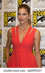 San Diego, CA - July 23, 2016: Tricia Helfer of FOX's Lucifer arrives at Comic Con 2016 in San Diego, CA.