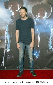 """SAN DIEGO, CA - JULY 23: Joel McHale arrives at the world premiere of """"Cowboys and Aliens"""" on July 23, 2011 at the Civic Theatre in San Diego, CA."""
