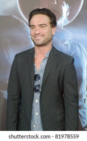 """SAN DIEGO, CA - JULY 23: Johnny Galecki arrives at the world premiere of """"Cowboys and Aliens"""" on July 23, 2011 at the Civic Theatre in San Diego, CA."""