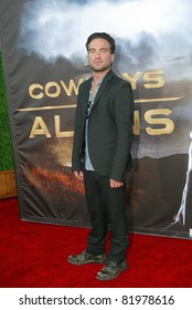 "SAN DIEGO, CA - JULY 23:  Johnny Galecki arrives at the world premiere of ""Cowboys and Aliens"" on July 23, 2011 at the Civic Theatre in San Diego, CA."