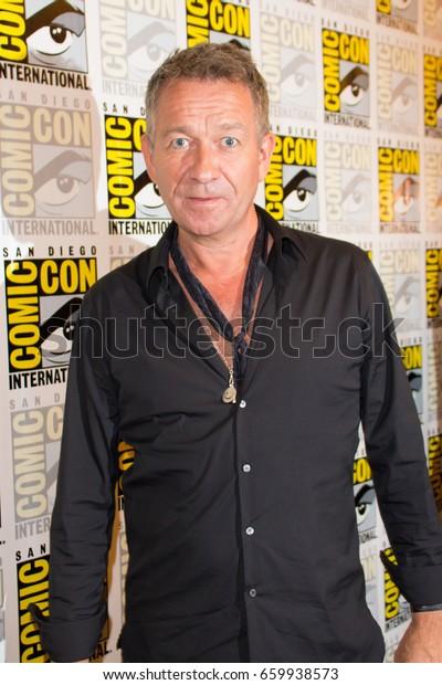 San Diego, CA - July 23, 2016: Sean Pertwee of Warner Bros. Gotham arrives at Comic Con 2016 in San Diego, CA.