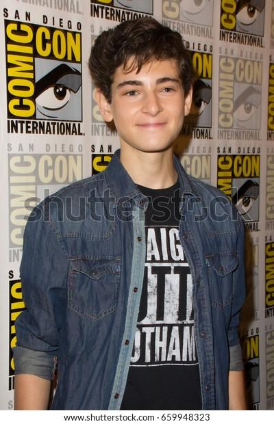San Diego, CA - July 23, 2016: David Mazouz of Warner Bros. Gotham arrives at Comic Con 2016 in San Diego, CA.