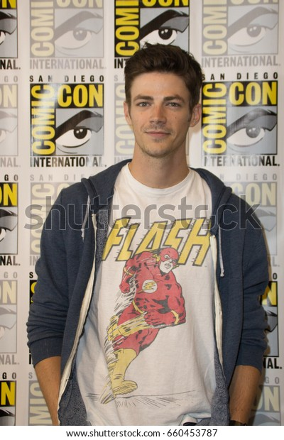 San Diego, CA - July 23, 2016: Grant Gustin of The CW's The Flash arrives at Comic Con 2016 in San Diego, CA.