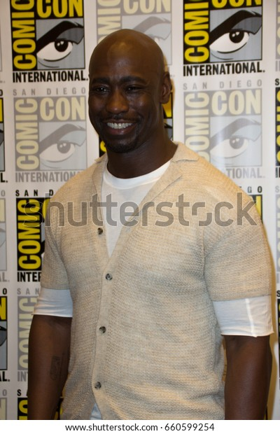 San Diego, CA - July 23, 2016: D.B. Woodside of FOX's Lucifer arrives at Comic Con 2016 in San Diego, CA.