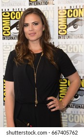 San Diego, CA - July 25, 2014: Hayley Atwell of Marvels Agent Carter arrives at Comic Con 2014 in San Diego, CA.