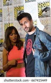 San Diego, CA - July 25, 2014: Chloe Bennet and Brett Dalton of Marvel's Agents of S.H.I.E.L.D. arrives at Comic Con 2014 in San Diego, CA.