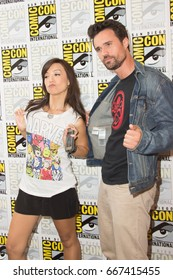 San Diego, CA - July 25, 2014: Ming-Na Wen and Brett Dalton of Marvel's Agents of S.H.I.E.L.D. arrives at Comic Con 2014 in San Diego, CA.