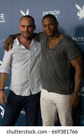 San Diego, CA - July 26, 2014:  Paul Blackthorne and David Ramsey of the CWs Arrow arrives at A&E / Playboy event at Comic Con 2014 in San Diego, CA.