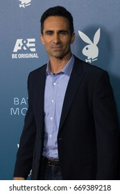San Diego, CA - July 26, 2014:  Nestor Carbonell of The A&E's Bates Motel arrives  at A&E / Playboy event at Comic Con 2014 in San Diego, CA.