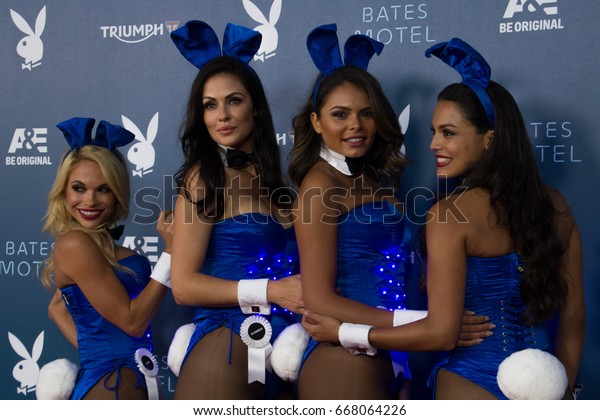 San Diego, CA - July 26, 2014:  Playboy Bunnies arrives at A&E / Playboy event at Comic Con 2014 in San Diego, CA.