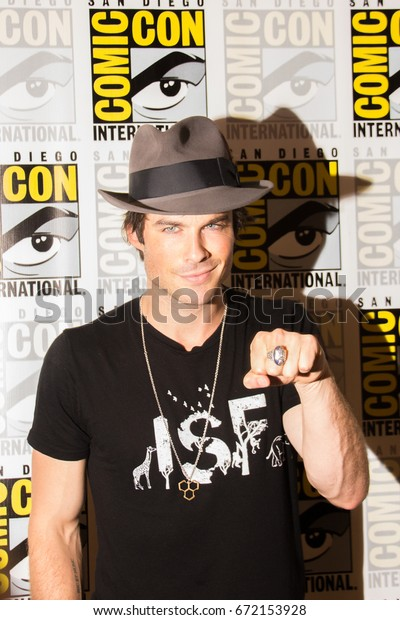 San Diego, CA - July 26 2014:  Ian Somerhalder of The CW's Vampire Diaries arrives at Comic Con 2014 in San Diego, CA.