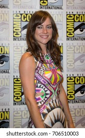 San Diego, CA - July 27 2014:  Jessica Stroup of Fox's The Following arrives at Comic Con 2014 in San Diego, CA.