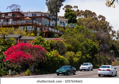 SAN DIEGO , CA - MAY 19 : In spring day on the Streets of San Diego city,California,America on May 19,2014.