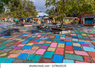 San Diego, CA / USA - December 25 2018: Spanish Village Art Center at Balboa Park