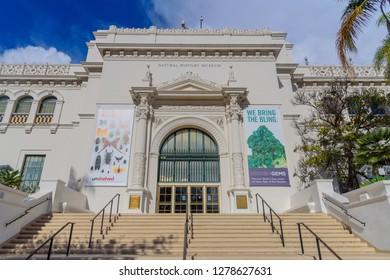 San Diego, CA / USA - December 25 2018: San Diego Natural History Museum at Balboa Park