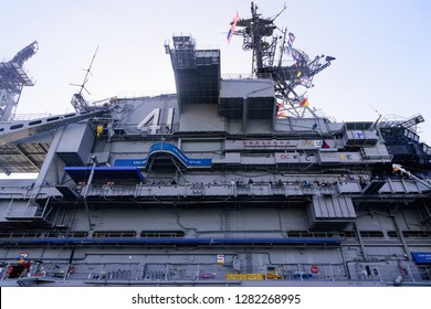 San Diego, CA / USA - December 27 2018: USS Midway Museum